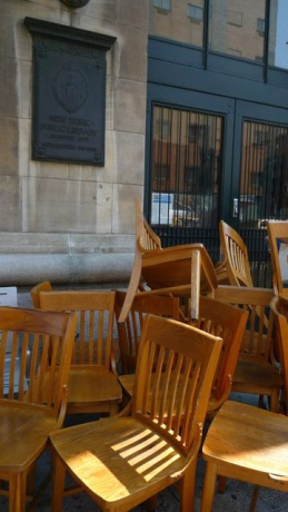 Chairs, New York Public Library, 2013 © Kathleen MacQueen.